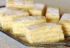 Grillázs szelet és torta Hungarian Desserts, Hungarian Recipes, Cake Cookies, Food And Drink, Dessert Recipes, Cooking Recipes, Sweets, Snacks, Ethnic Recipes