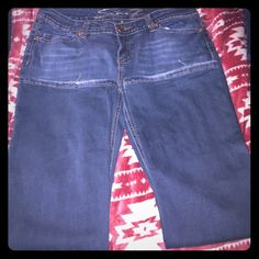 %Auth Seven7 Jeans Sz14P SO COMFY❣ RN#109890- Pre-loved and only shows signs of it at the hems, which I am sure can be fixed easily. Which would be worth it for jeans as beautiful and comfortable as these. They are adorned with little jewels on my areas near the pockets and snap closure. Feel  soft and comfy but look stylish and classy❗️Question please ask! Willing 2 consider any reasonable offers! Thanks for stopping by and looking at my closet!❤️ Seven7 Jeans