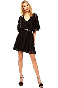 GP Womens VNeck ThreeQuarter Black Lace Summer Casual Dress XL * Visit the image link more details. Nightgowns, Bustiers, Casual Summer Dresses, Corsets, Maxi Dresses, Mother Of The Bride, Blouses For Women, Tanks, Work Wear