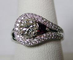 Beautiful Custom Diamond Ring made at Aquamarine Jewelers