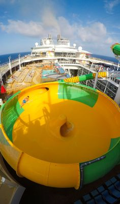 Harmony of the Seas   'Round and 'round we go. The Perfect Storm waterslide trio is an adventure you'll want to slide into over and over again. Cruise with Royal Caribbean onboard Harmony of the Seas and explore seven unique neighborhoods of adventure.
