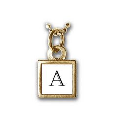 """Mini Square Initial Charm~Necklace 1/4"""" x 1/4"""" $34.00  Handmade by artisans"""