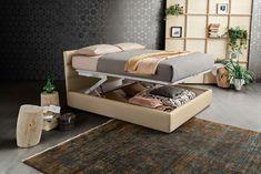 Pat tapitat cu spatiu de depozitare Sir #homedecor #interiordesign #decoration #bedroom #bedroomdecor Ottoman, Bench, Chair, Bedroom, Storage, Interior, Modern, Furniture, Home Decor