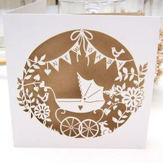 New Baby Laser Cut Greeting Card