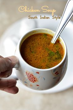 As we are approaching winter,the weather is getting colder day by day and we had our first snowfall yesterday.The cold weather calls f. Indian Chicken Soup Recipe, Chicken Curry Soup, Chicken Soup Recipes, Healthy Soup Recipes, Cooking Recipes, Veg Soup, Prawn Recipes, Rice Recipes, Cooking Tips