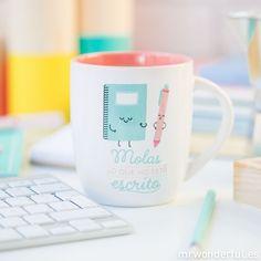 """Taza """"Molas lo que no está escrito"""" #mrwonderfulshop #mug #taza"""