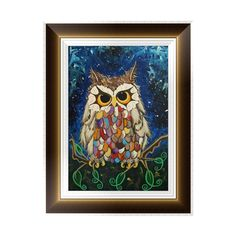 DIY 5D Diamond Embroidery Owl Painting Cross Stitch Art Craft Home Wall Decor #Affiliate