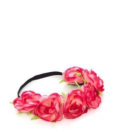 Pink Hawaiian Rose Hair Garland