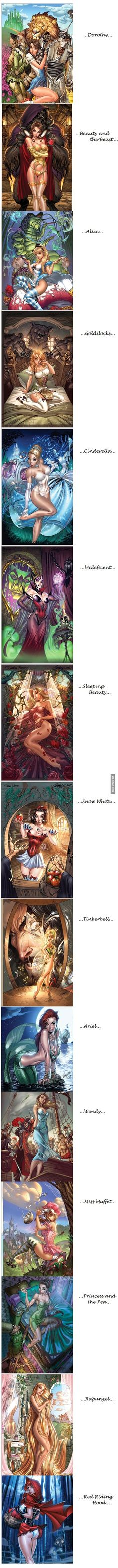 More J. Scott Campbell pin up Disney. Except that's not Maleficent >.< that's the Evil Queen from Snow White.