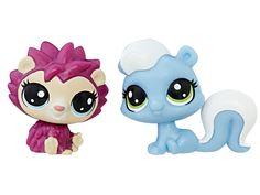 #transformer littlest pet shop mini 2-pack hildy hedgehog & alina skunkerby