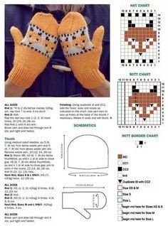 Knitted Mittens Pattern, Fingerless Gloves Crochet Pattern, Baby Sweater Knitting Pattern, Fair Isle Knitting Patterns, Fingerless Mittens, Knit Mittens, Knitted Gloves, Hat Patterns, Stitch Patterns