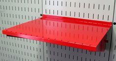 Wall Control Pegboard Shelf 12in Deep Pegboard Shelf Assembly for Wall Control Pegboard and Slotted Tool Board - Red by Wall Control, http://www.amazon.com/dp/B00AZ20YO0/ref=cm_sw_r_pi_dp_HEufrb128WKBY