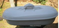 Antique White Ironstone Covered Brush Box by 4HollyLaneAntiques, $162.00