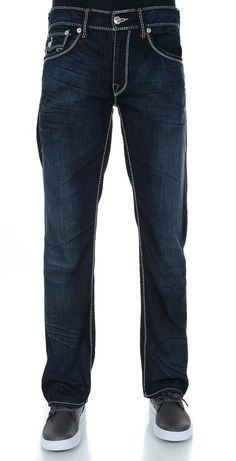 True Religion Men's Mega T Flap Pocket Straight Leg Jean NWT $348 #TrueReligion #straight