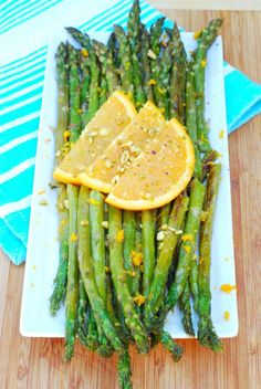 Pistachio & Orange Asparagus is a flavorful side dish for a summer meal.