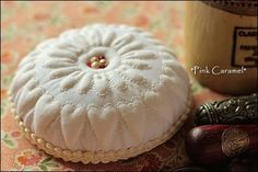 Boutis pincushion, trapunto style