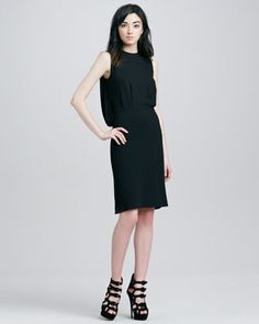 Draped Back Dress by L\'Agence at Neiman Marcus.