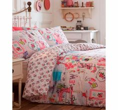 Bhs Cut and Sew printed bedding set, pink 1859670528 Decorated with sewing machines,needles and threads, this cut and sew bedding set celebrates all things fun and crafty. Its sure to brighten up your bedroom with its inviting colour palette.Fibre Compo http://www.comparestoreprices.co.uk//bhs-cut-and-sew-printed-bedding-set-pink-1859670528.asp
