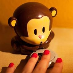In this Cute Monkey Nail Polish Dryer, you only need to press the plate of bananas, and the monkey will blow air to dry the nail polish to look more beautiful. Nail Polish Dryer, Nail Dryer, Monkey Nails, Cute Gifts For Her, Cute Monkey, Little Monkeys, You Nailed It, Body Care, Cool Things To Buy