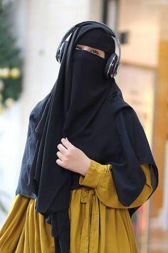 Hijab Niqab, Muslim Hijab, Mode Hijab, How To Wear Hijab, Hijab Dpz, Niqab Fashion, Islam Women, Hijab Cartoon, Muslim Beauty