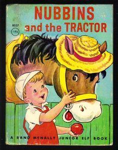 Nubbins and The Tractor Vintage Rand McNally Junior Elf Book 3160 | eBay