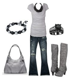 """gray and black"" by sarah-jones-3 ❤ liked on Polyvore featuring Abercrombie & Fitch, Coach, Not Rated and SHIMLA"