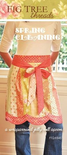 Spring Cleaning Apron Pattern - Jelly Roll Friendly from Moda by Fig Tree. $6.49