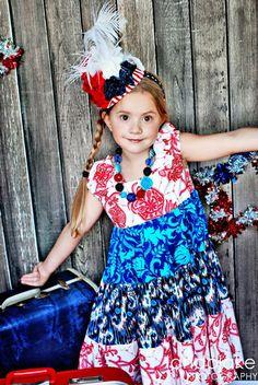 Ivy Bloom Tiered Twirly Dress -- fashion children clothing. $49.95, via Etsy.