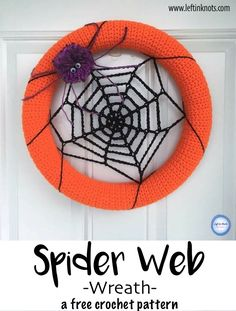 Favorite Crochet Ideas *FREE CROCHET PATTERN* This simple spider web wreath is a fast way to add some DIY Halloween decor to your front door! Crochet Wreath, Crochet Fall, Holiday Crochet, Crochet Crafts, Crochet Projects, Free Crochet, Thanksgiving Crochet, Crochet Ideas, Fairy Halloween Costumes