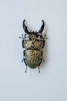 Steampunk Tendencies — Oil on Beetle by Akihiro Higuchi Bug Art, Beautiful Bugs, Insect Art, Bugs And Insects, Weird Insects, Japanese Artists, Prints For Sale, Steampunk, Illustration Art