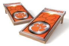 Clemson Tigers Single Cornhole Board - Medallion