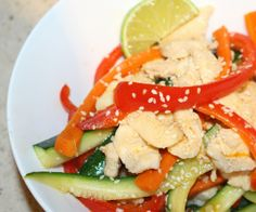 This chicken stir fry with lime is so crunchy, tasty & easy to make. The perfect week night dinner.