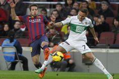 Jordi Alba, en acción con aarón