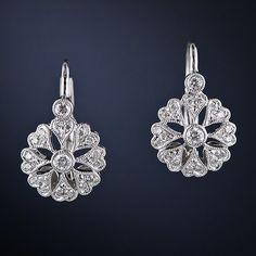Petite Vintage Style Diamond Earrings - 20-1-2410 - Lang Antiques