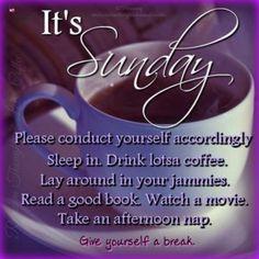 Sunday Morning Quotes, Sunday Wishes, Happy Sunday Quotes, Blessed Sunday, Easy Like Sunday Morning, Good Morning Good Night, Happy Wishes, Morning Humor, Lazy Sunday