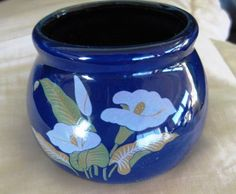 SiriusEnterprises  Blue  Beanpot bowl GREAT by ChinaGalore on Etsy, $6.50