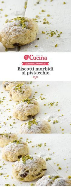 cake and recipes Italian Cookie Recipes, Italian Cookies, Italian Desserts, Sweet Desserts, Sweet Recipes, Pistachio Cookies, Biscotti Cookies, Yummy Cookies, Italian Biscuits