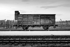A train car which was used to deport Jews to their deaths at Auschwitz