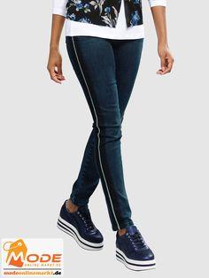 Jeans mit schmückender metallisch glänzender Seitenpaspel gearbeitet In trageangenehmer Denim Qualität mit Str... #BAUR #AlbaModa #Rabatt #25 #Marke #Alba #Moda #Farbe #blau #Material #Baumwolle #Elasthan #Wolle #Onlineshop #BAUR #Damen #Bekleidung #Damenmode #Hosen #Jeans #Röhrenjeans #Sale | sportliche Outfits, Sport Outfit | #mode #modeonlinemarkt #mode_online #girlsfashion #womensfashion Alba Moda, Sport Outfit, Mode Online, Skinny Jeans, Pants, Material, Fashion, Athletic Outfits, Trousers