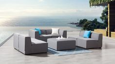 Toft Seven Ways Outdoor Lounge System | Lavita Furniture