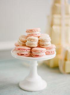 pale pink macroons at wedding