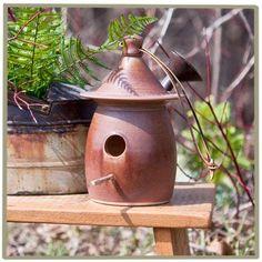 Bird house, Rowe Pottery