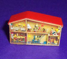 VINTAGE 1970's LUNDBY DOLLS HOUSE MINIATURE DOLLS HOUSE - RARE