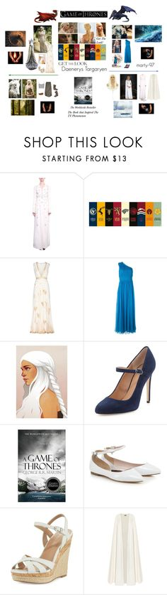 """Get The Look! Daenerys Targaryen - Game Of Thrones"" by marty-97 ❤ liked on Polyvore featuring Attico, Diane Von Furstenberg, Halston Heritage, Artista, Charles by Charles David and La Mania"