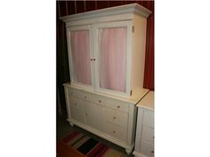 White Wardrobe w/ Pink Tule