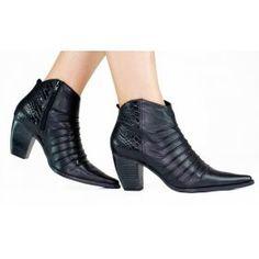 Ankle Boot Bottero Couro Preto 225001