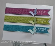 Hand Stamped Style: Simple Bitty Butterfly Banner Greetings Stampin' Up! card #handstampedstyle