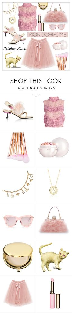 """Color Me Pretty * Head To Toe Pink"" by calamity-jane-always ❤ liked on Polyvore featuring Prada, Roksanda, Guerlain, Cartier, Blue Nile, Karen Walker, Dolce&Gabbana, Estée Lauder, Clarins and fashionset"