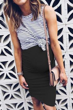 USD Maternity Stripes Color Block Fake Two Pieces Dress Maternity Clothes、Maternity Fashion、Maternity Dresses、Maternity Casual Dress Casual Maternity Outfits, Summer Maternity Fashion, Stylish Maternity, Maternity Wear, Maternity Dresses, Maternity Looks, Maternity Clothes Spring, Dress Casual, Two Pieces Dress