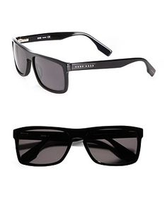 84948f5cbdaec BOSS Black Square Plastic Sunglasses Boss Black